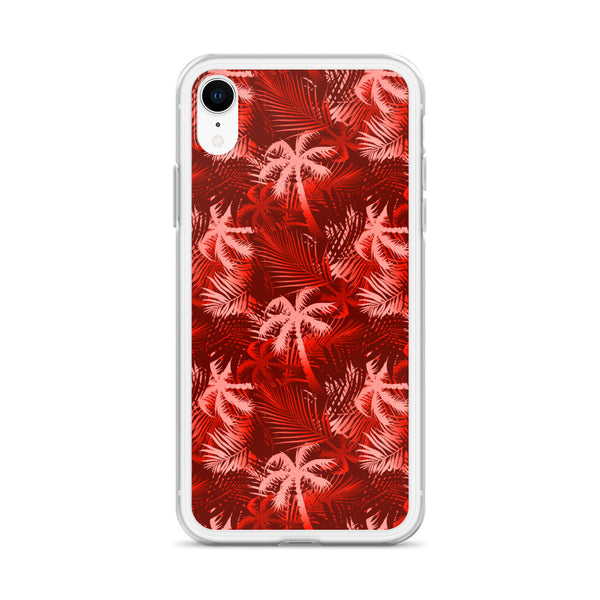 red tropical iphone case