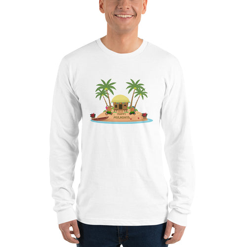 Christmas - Happy Huladays / Mele Kalikimaka Men's Long sleeve t-shirt