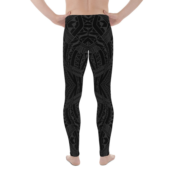 All Over Samoan Tattoo Pattern Men's Leggings