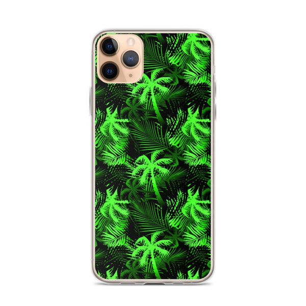 bright green fern iphone case