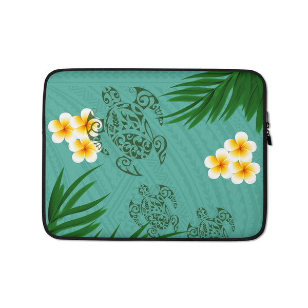 Polynesian tattoo laptop case