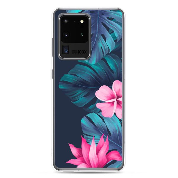 Tropical Flowers and Fern Samsung Case - Samsung Galaxy Case S10 S10+ S10E S20 Plus and Ultra