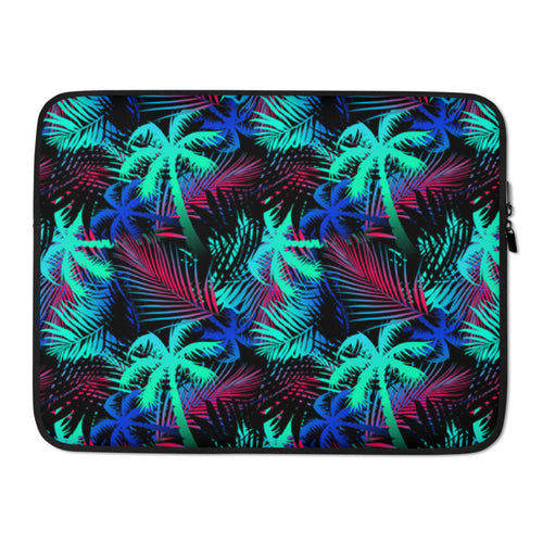Large Print Bright Palm Tree Laptop Sleeve / Case