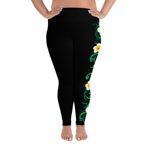 plumeria plus size leggings