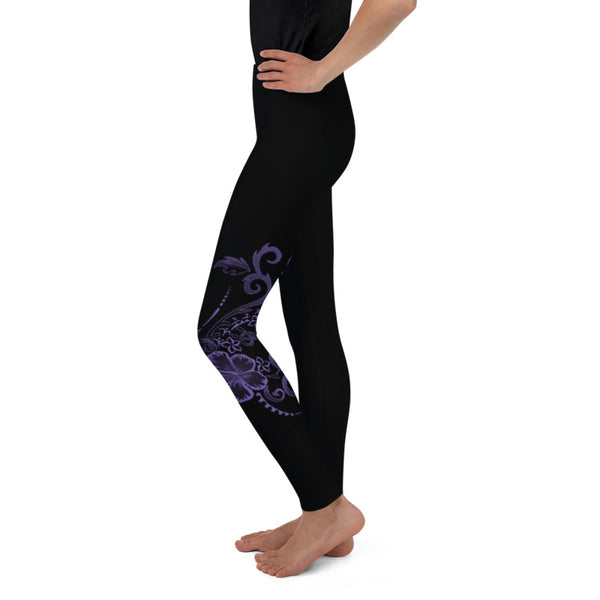 Hawaiian Hibiscus Tattoo Toddler & Youth Leggings - 6 Colors Available
