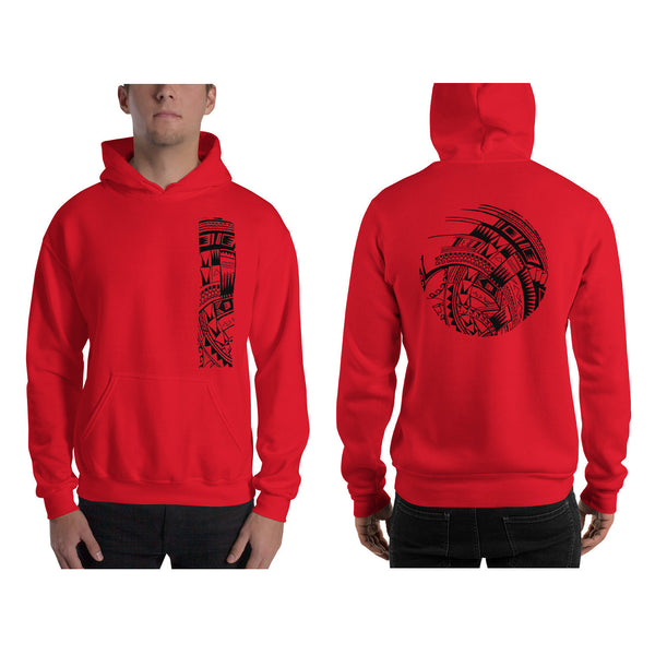 Red Polynesian Samoan tattoo Hawaiian Hooded Sweatshirt