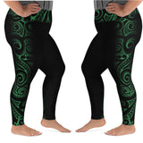 Polynesian Maori / Samoan Tattoo Long Leggings - 5 colors and Plus Size available with 2 Band Widths