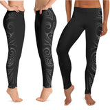 Polynesian tattoo leggings