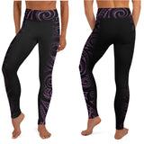 Hawaiian high waist leggings Purple