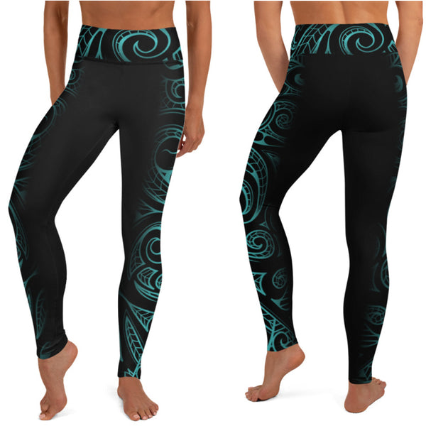 Polynesian tattoo long leggings
