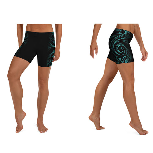 Polynesian Maori / Samoan Tattoo Women's Crossfit / Athletic Shorts - 5 Colors Available