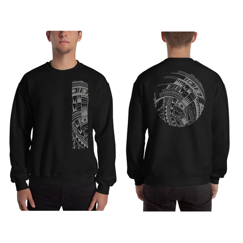 Black Polynesian Samoan tattoo Hawaiian Sweatshirt