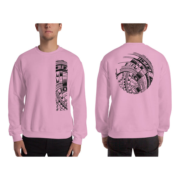 Light Pink Polynesian Samoan tattoo Hawaiian Sweatshirt
