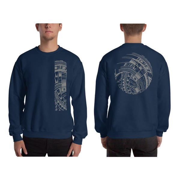 Navy Blue Polynesian Samoan tattoo Hawaiian Sweatshirt