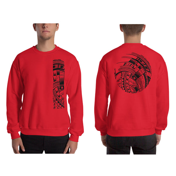 Red Polynesian Samoan tattoo Hawaiian Sweatshirt