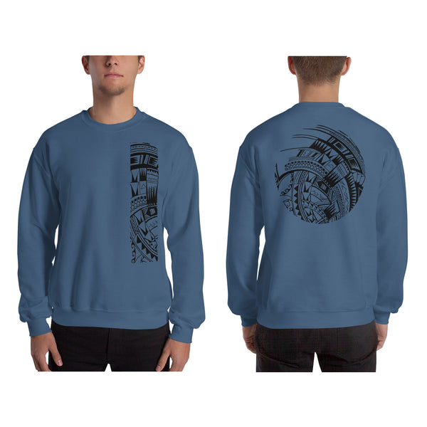 Steel Blue Polynesian Samoan tattoo Hawaiian Sweatshirt