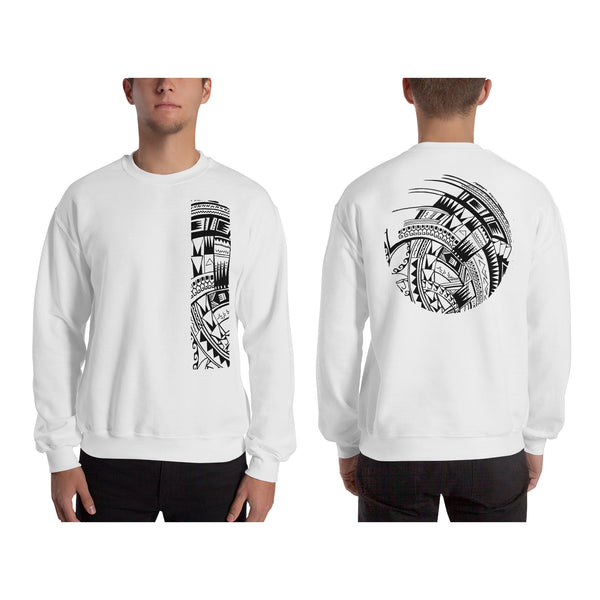 White Polynesian Samoan tattoo Hawaiian Sweatshirt