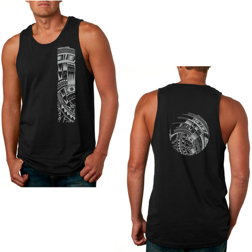 Samoan tattoo mens tank black