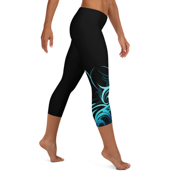 polynesian capri leggings