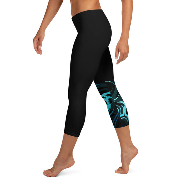Polynesian crop leggings