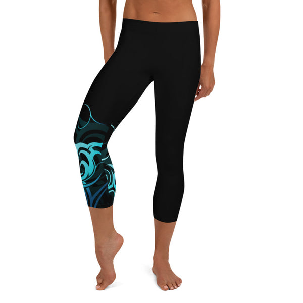 Wave Pattern Hawaiian capri