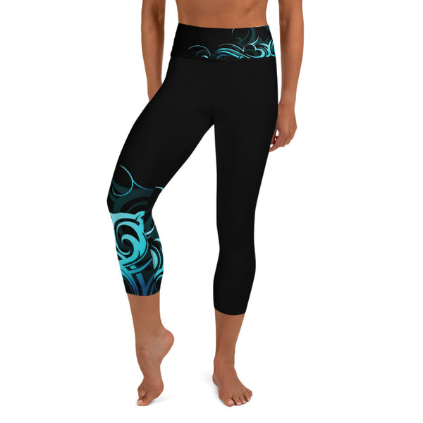 Wave High Waist Capri Leggings