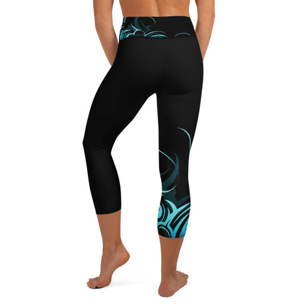 Hawaiian capri yoga leggings