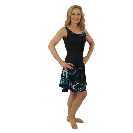 All over Samoan Tattoo Pattern Short Dress - 8 Colors Available