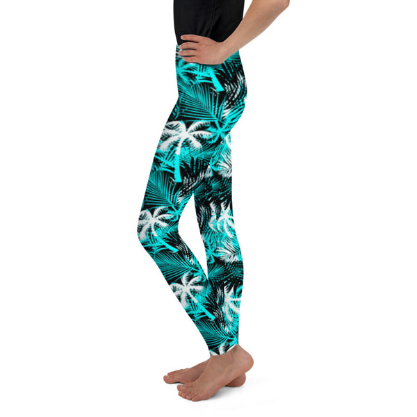 Hawaiian Tropical Palm Tree and Fern Toddler & Youth Leggings - 7 Colors Available