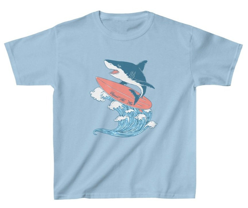 Kids Surfing Shark Tee