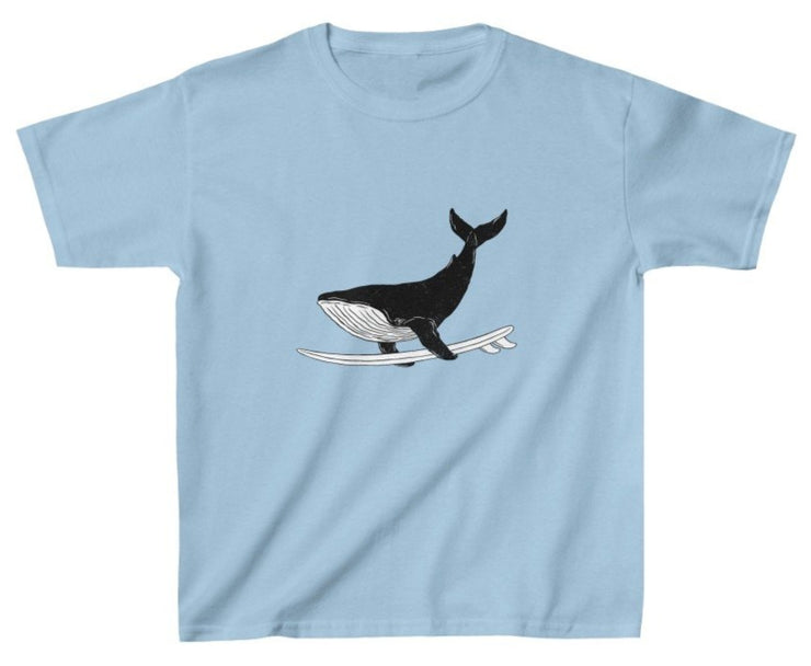 Kids Surfing Whale Tee