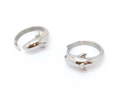 Stainless Steel Shark Ring