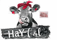 Hay Girl Cow - Momma G's Boutique