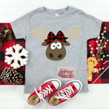 Christmas Moose T-shirt for Women and girls!