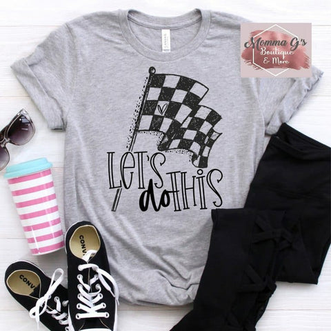 Checkered flag let's do this t-shirt