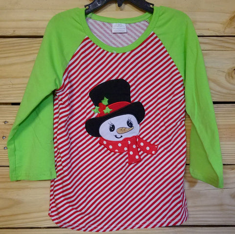 Snowman Christmas Raglan - Momma G's Boutique