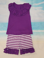 Purple Ruffle Set - Momma G's Screen Printing, Embroidery & More