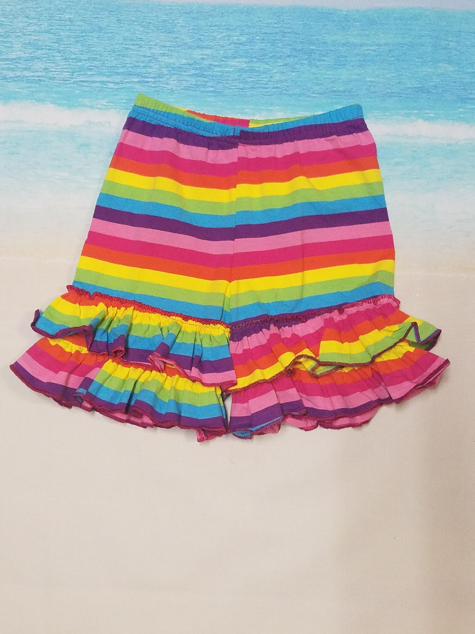 Rainbow Ruffle Shorties - Momma G's Boutique