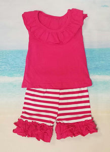 Pink Ruffle Shorts Set - Momma G's Boutique