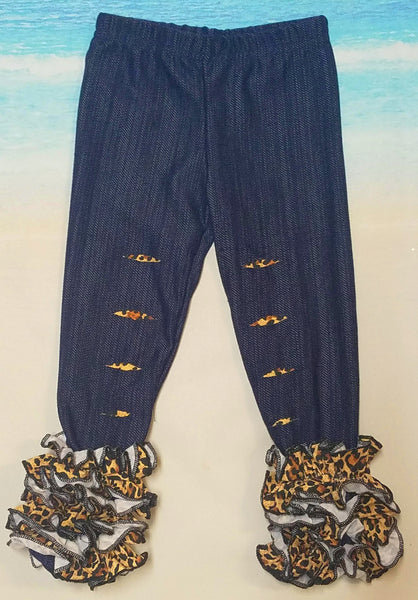 Leopard Distressed Icing Pants - Momma G's Boutique