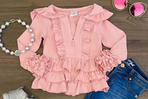 Mauve Ruffle Jackets - Momma G's Children's Boutique, Screen Printing, Embroidery & More