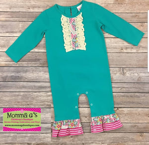 Owl Vintage Romper - Momma G's Children's Boutique, Screen Printing, Embroidery & More