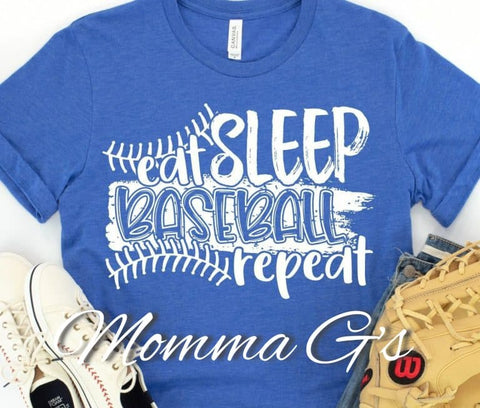 Eat Sleep Baseball Repeat - Momma G's Boutique