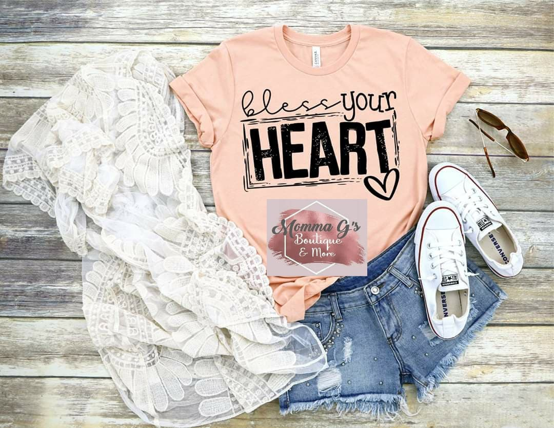 Bless your Heart T-shirt, tshirt, tee - Momma G's Children's Boutique, Screen Printing, Embroidery & More