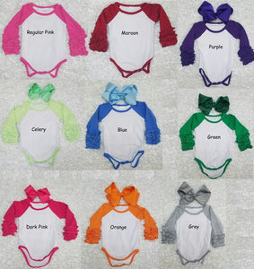 Red Baby Ruffle Onesie's - Momma G's Children's Boutique, Screen Printing, Embroidery & More