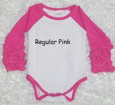 Regular Pink Baby Ruffle Onesie - Momma G's Children's Boutique, Screen Printing, Embroidery & More
