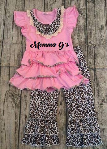 Pink Chettah Capris - Momma G's Screen Printing, Embroidery & More