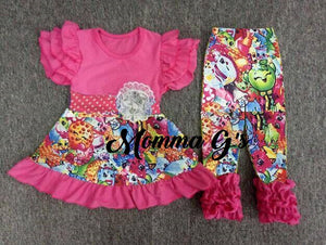 Pink Shopkins Pant Set - Momma G's Boutique