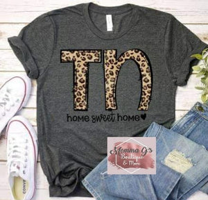 Tennessee Home Sweet Home T-shirt - Momma G's Children's Boutique, Screen Printing, Embroidery & More
