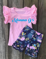 Bird Cage Shorts Set - Momma G's Screen Printing, Embroidery & More